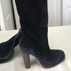 Guess navy suede tall boot